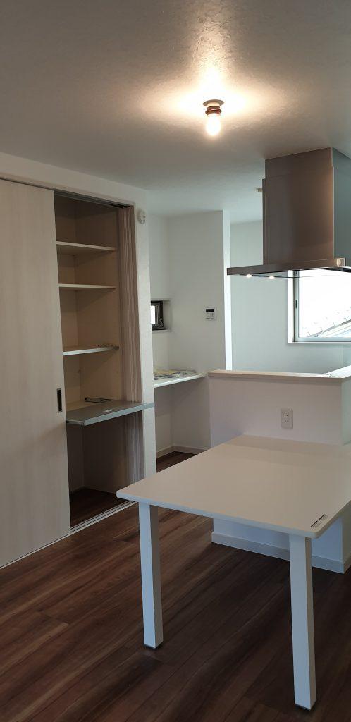 キッチン収納 横並びキッチン