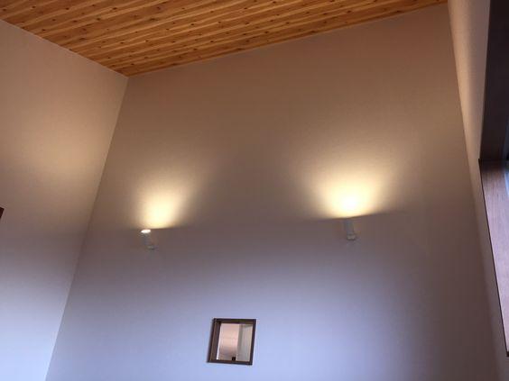 勾配天井 ブラケット照明